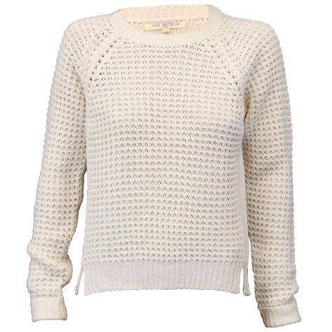 knitted womens jumpers jumpers womens knitted pullover top waffle crew