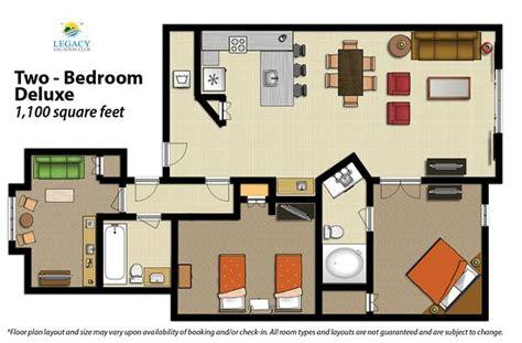 2 bedroom villa floor plans 2 bedroom floor plan deluxe picture of legacy vacation
