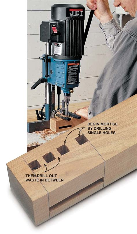 woodworking mortise mortising by machine popular woodworking magazine