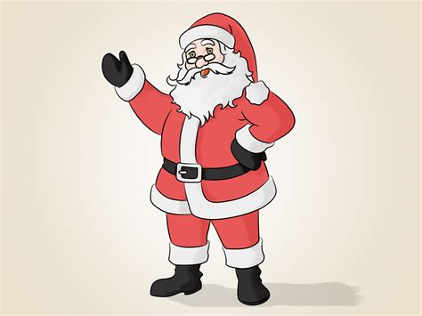 santa claus how to draw santa claus 14 steps with pictures wikihow
