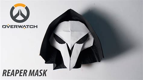 how to make origami mask overwatch origami reaper s mask tutorial for