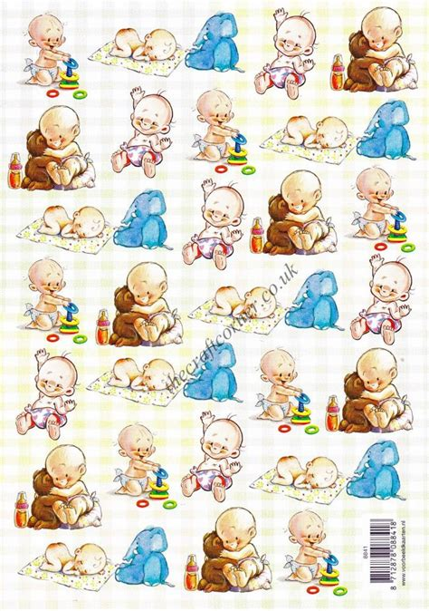 baby decoupage baby with toys designs 3d decoupage sheet