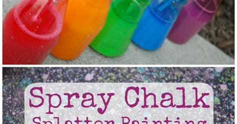 chalk paint process spray chalk splatter painting spray chalk and process