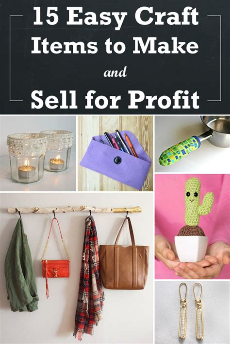 crafts that are easy to make 15 easy craft items to make and sell for profit