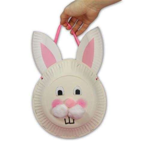 paper plate bunny craft paper plate easter bunny treat bag family crafts