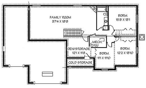 basement plan contemporary ranch house plans home design edc r1786 8249