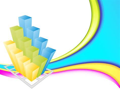 colorful business 3d graph ppt backgrounds 3d business