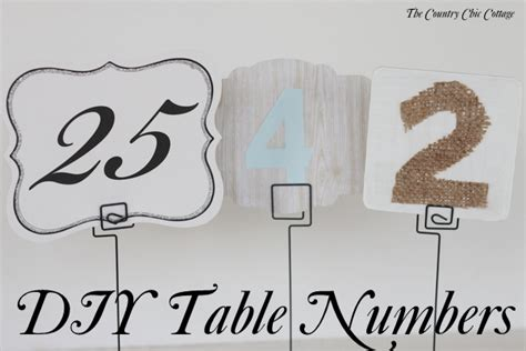 how to make table number cards diy wedding table numbers