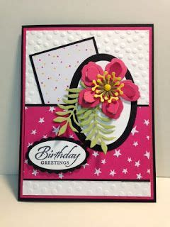 rubber st cards blossoms builder wetlands birthday card stin up