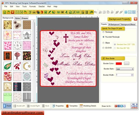software for cards and invitations wedding invitation wording wedding invitation maker software