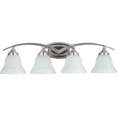 home depot bathroom lighting brushed nickel sea gull lighting 4 light brushed nickel incandescent