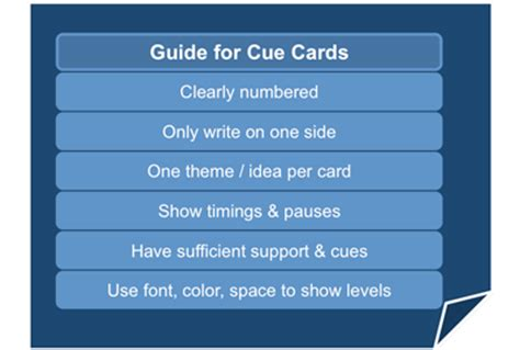 how to make presentation cards communication skills styles of presentingcue card guidelines