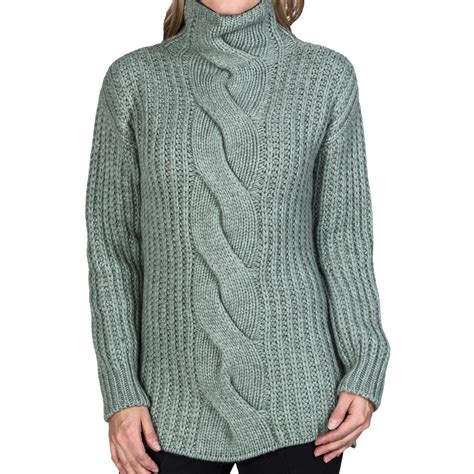 cable knit turtleneck johnstons of elgin cable knit turtleneck sweater for