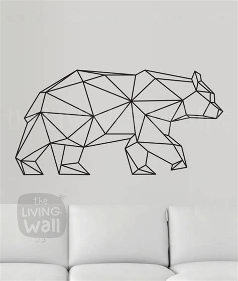 geometric wall decor geometric wall decal geometric animals decor wall