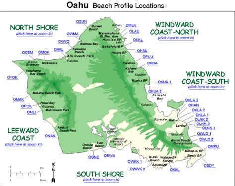 Punaluu Beach usgs uh oahu beach profile locations