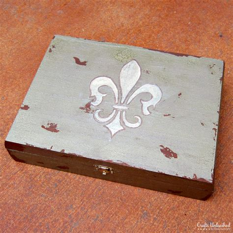 how to make a wood jewelry box antiqued diy jewelry box