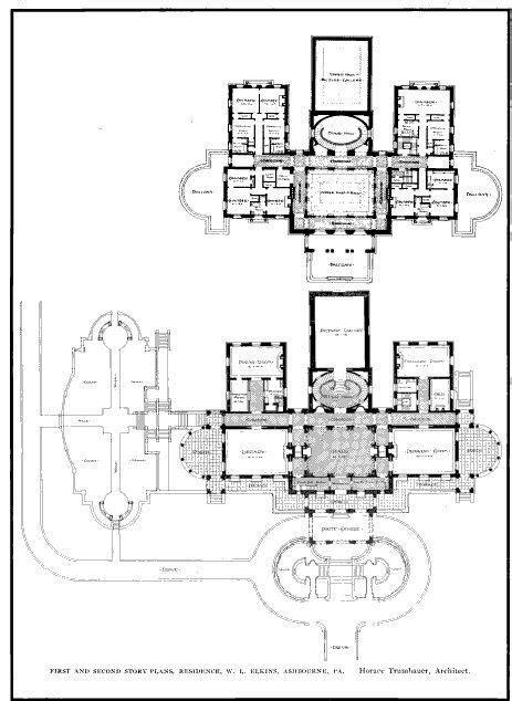 waddesdon manor floor plan elstowe manor floor plans gilded era mansion floor plans