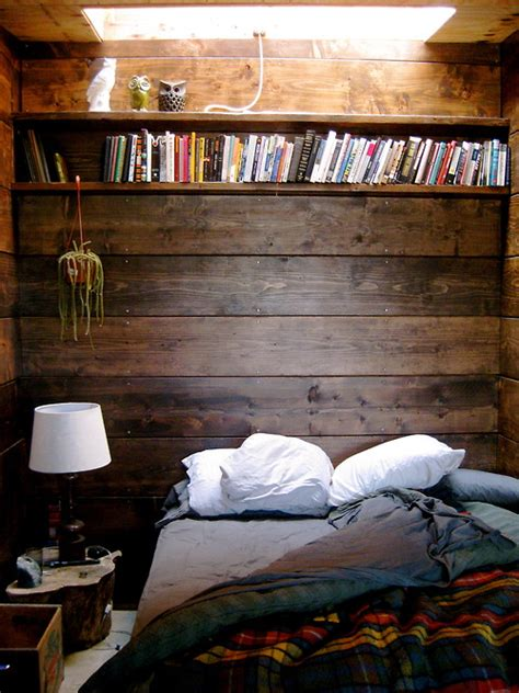 woodwork in bedroom moon to moon earthship for sale