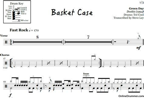 basket case basketcase green day chords