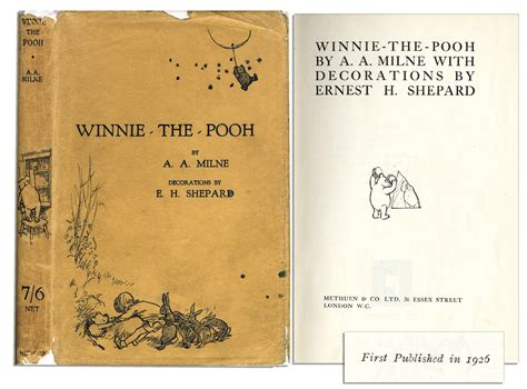 original book with pictures lot detail scarce printing of winnie the pooh