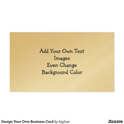 make ur own business cards for free design your own business card zazzle