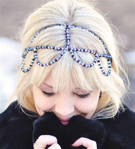 diy beaded headbands diy beaded headband crown maegan
