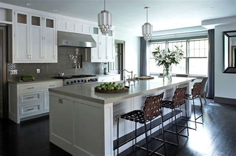 Kitchen Island With Cooktop And Seating gray kitchen backsplash contemporary kitchen mar