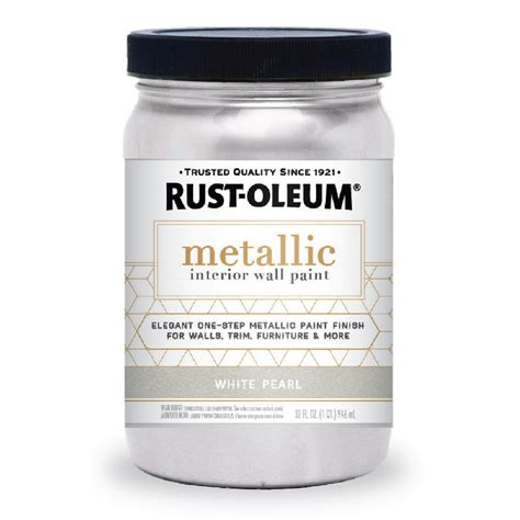 home depot paint quart rust oleum 1 qt white pearl metallic paint 2 pack