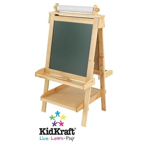 kid craft easel kidkraft deluxe wood easel with paper roll 62005