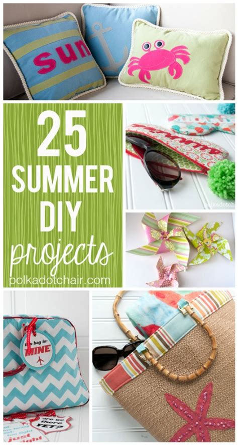 diy summer crafts for 25 summer diy projects the polka dot chair