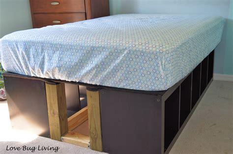 ikea hack bed bug living ikea expedit hack platform bed