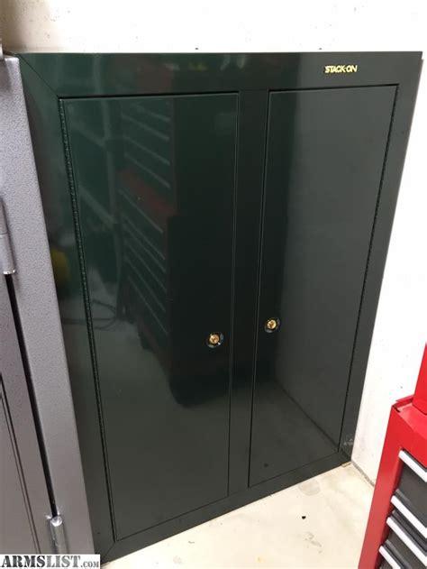 stack on 2 door gun cabinet armslist for sale stack on 16 gun door cabinet