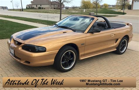 1997 Ford Mustang Gt by Aztec Gold 1997 Ford Mustang Gt Convertible