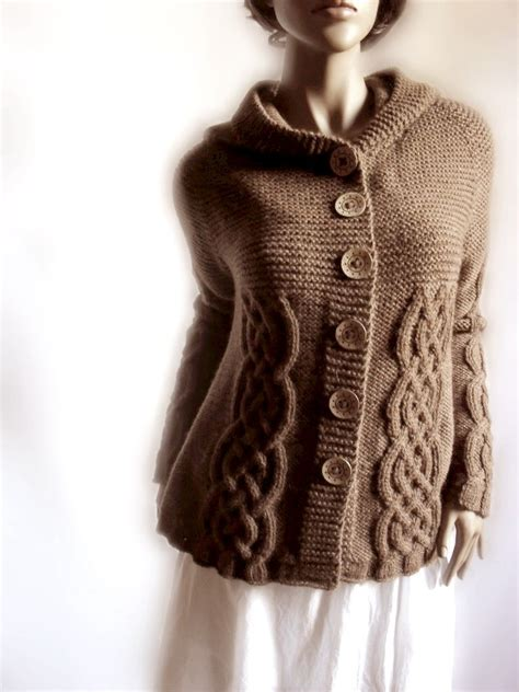 sweater knit knit sweater womens cable knit cardigan hooded coat