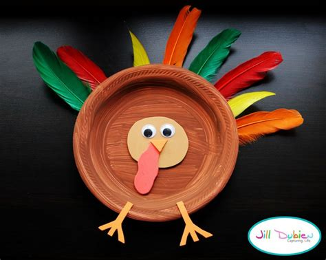 easy turkey crafts for easy paper plate turkey thanksgiving