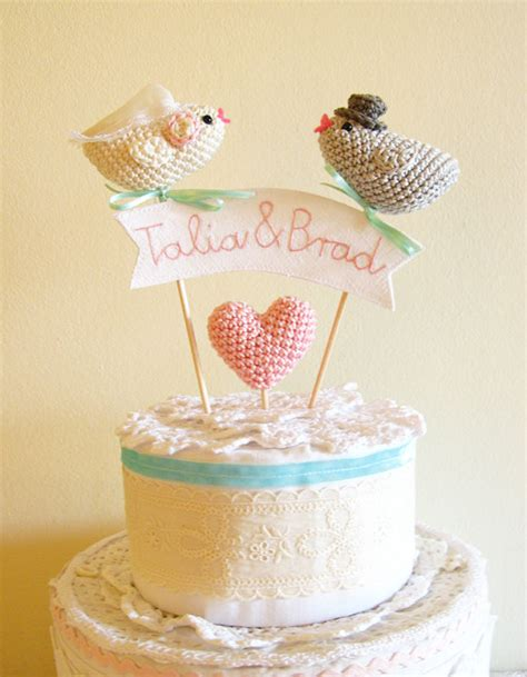 knitted wedding cake toppers diy and customisable wedding cake toppers chic vintage