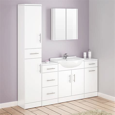 Bathroom White Cabinets by White Bathroom Cabinets Uk