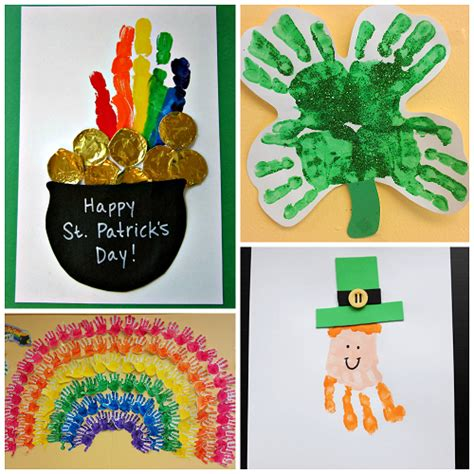 st patricks day craft for st s day footprint handprint crafts for