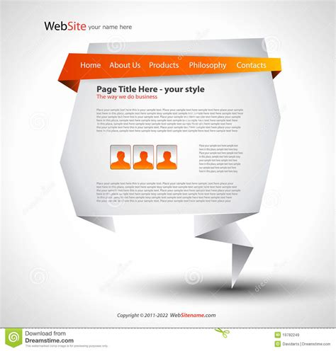 Origami Website Design Royalty Free Stock Images