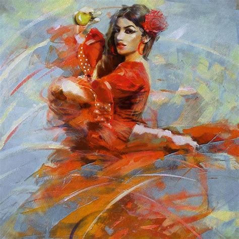 is painting flamenco 47 painting by maryam mughal