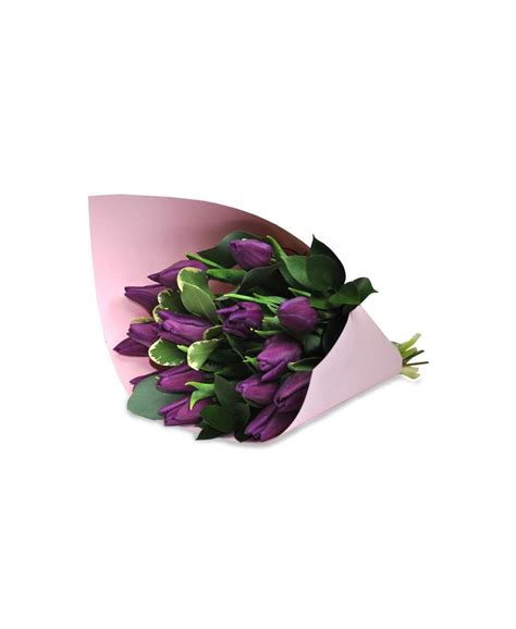 pink craft paper bouquet of purple tulips in pink craft paper flowerscity 174
