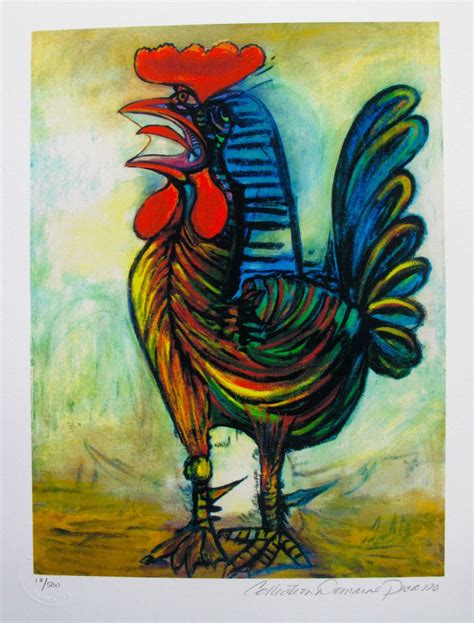 real pablo picasso paintings for sale pablo picasso the rooster estate signed numbered small