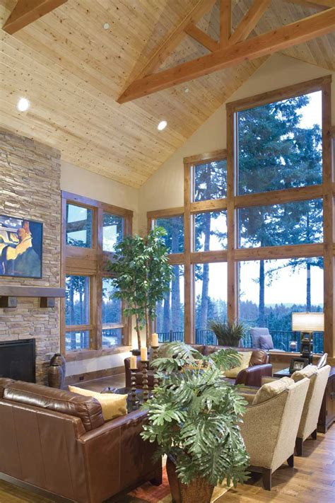 rustic home plan great room photo 06 plan 011s 0001 house plans and more