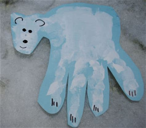 january arts and crafts for a keepsake polar handprint project you can make with