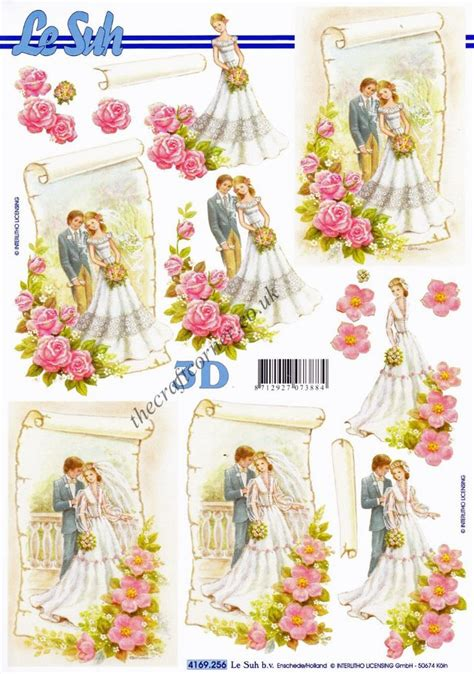 wedding decoupage sheets groom with flowers 3d decoupage sheet