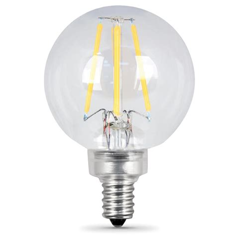 feit electric 60w equivalent soft white g16 5 dimmable