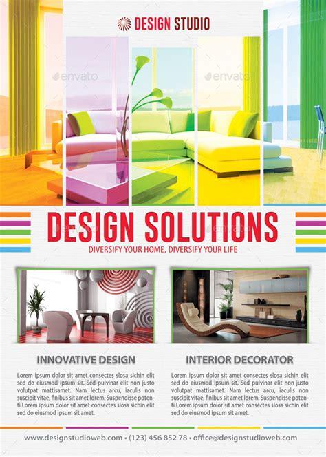 interior design flyers interior design solution flyer template 102 by 21min