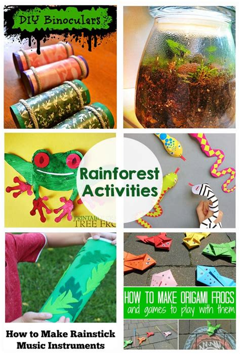 rainforest craft ideas for rainforest activities and printables the crafting