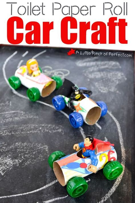 toilet paper roll car craft my crafts they can play with like our