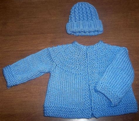 free knitted baby sweater patterns boys my knit baby set